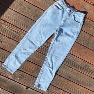 American apparel high waist light wash skinny jean